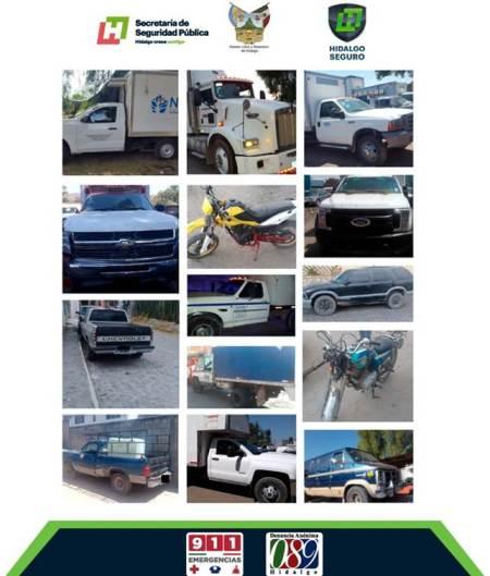 En región de Tepeji, recupera Policía Estatal 14 autos robados