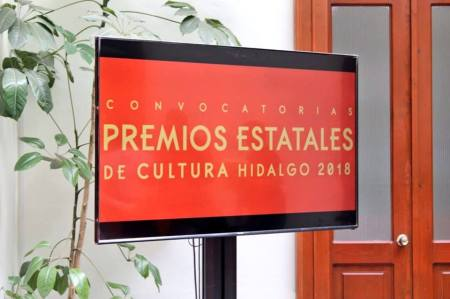 Entrega de premios estatales de Cultura Hidalgo 2018
