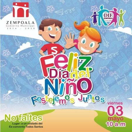Invitacion dia del niño Zempoala