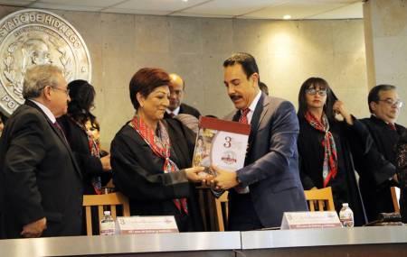 Magistrada presidenta del TSJEH, rinde su 3er Informe Anual de Actividades1