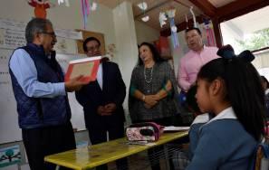 Secretario Atilano Rodríguez visitó escuela y participó en Sesión de los Consejos Técnicos Escolares 1