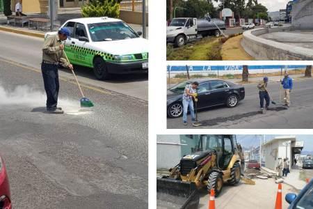 Trabajadores y Ayuntamiento de Pachuca reanudaron actividades, pretenden normalizar servicios.jpg