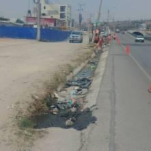 Trabajos de limpieza en el boulevard Independenc1