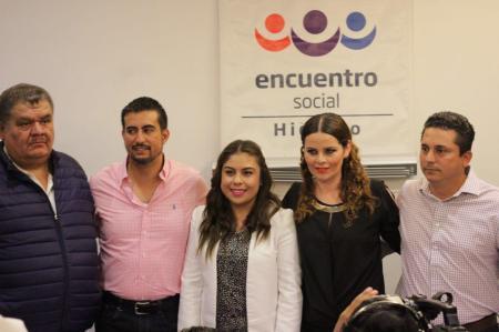 Asume Sharon Montiel y Felipe Lara la dirigencia del Partido Encuentro Social Hidalgo.jpg