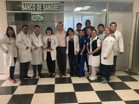 Banco de sangre del HGZMF 1 del IMSS Hidalgo, gana reconocimiento a nivel nacional