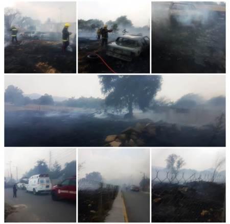 Con coordinación mediante C5i, incendio es sofocado en Mineral de la Reforma