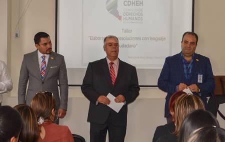 Fortalece CDHEH resoluciones con lenguaje ciudadano1