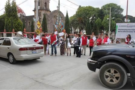 Fue inaugurada la rehabilitación de la calle principal de Almoloya4
