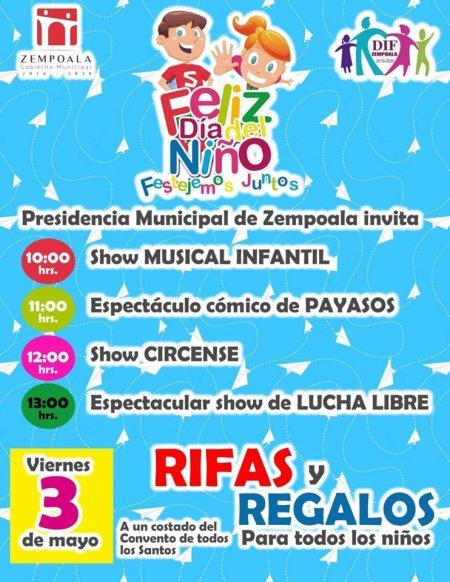 Invitan a Dia del Niño en Zempoala