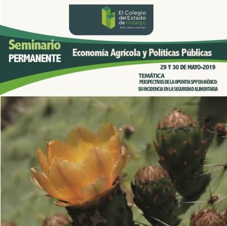 Invitan a Seminario Permanente de Economía Agrícola y PolíticasPúblicas 2019