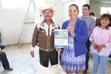 Realiza Mineral de la Reforma 2da. entrega de incentivo de semilla de avena y cebada a pequeños productores