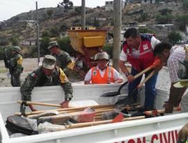 realizan labores de mitigación en Barrio la Camelia4