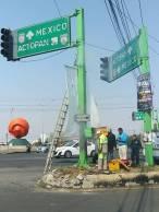 SOPOT realiza trabajos de mantenimiento a semáforos en boulevard Colosio 1