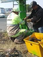 SOPOT realiza trabajos de mantenimiento a semáforos en boulevard Colosio 2