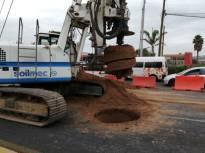 Inician perforaciones por la construcción de la segunda etapa de la Supervía Colosio1