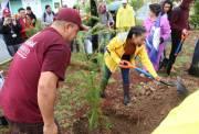 Mineral de la Reforma y alumnos del IPN se suman a reforestación en el Fraccionamiento Mineral II2