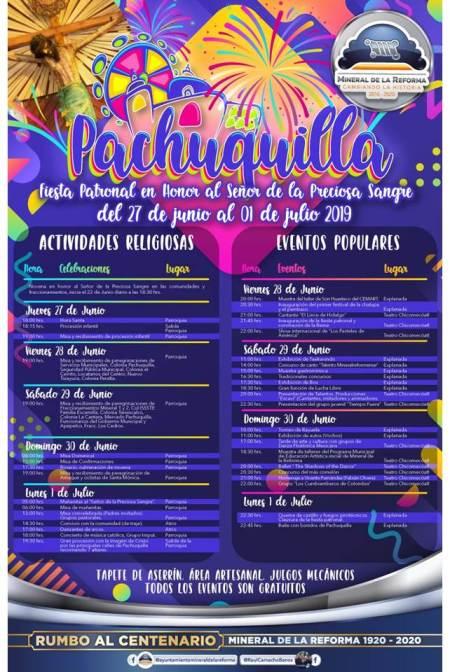 Programa Feria Patronal Pachuquilla 2019