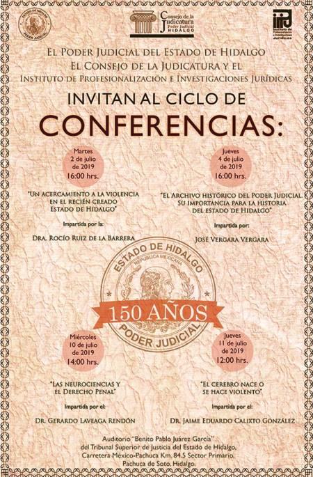 Sesión solemne y ciclo de conferencias por el 150 aniversario del TSJEH
