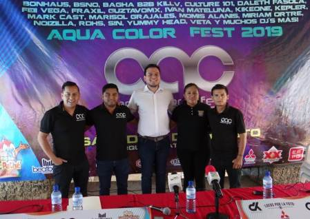 Todo listo para el Aqua Color Fest en Ixmiquilpan
