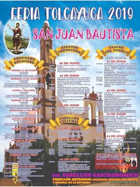 Tolcayuca festejará su Fiesta en honor al Santo Patrono, San Juan Bautista