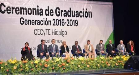 Asiste Secretario de SEPH a la graduación de estudiantes del CECyTEH Plantel Pachuca4