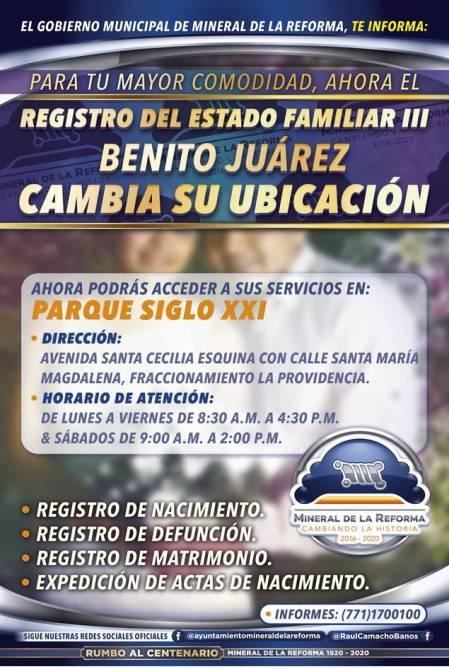Cambia sede Registro Civil III de La Providencia, ahora atenderá desde el Parque Siglo