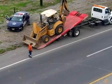Con videovigilancia de C5i Hidalgo, recupera Policía Estatal maquinaria robada