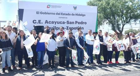 Da SOPOT banderazo de inicio a conservación de carretera en Zapotlán2