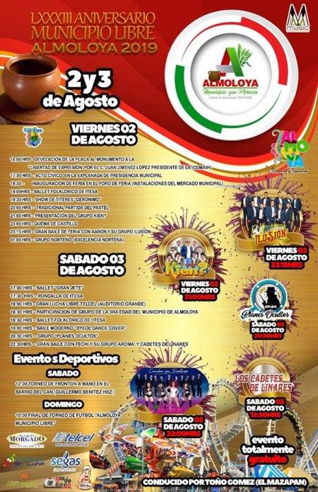 Feria anual del aniversario de fundacion de Almoloya 2019