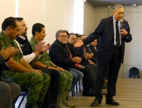 Imparte Franco Forgione conferencia de seguridad en Gobierno de Hidalgo4