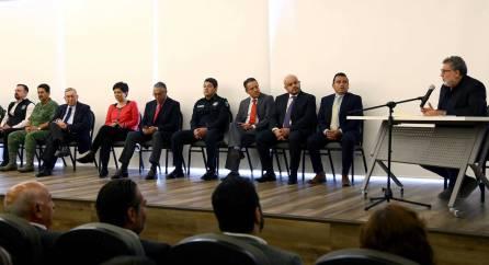 Imparte Franco Forgione conferencia de seguridad en Gobierno de Hidalgo6