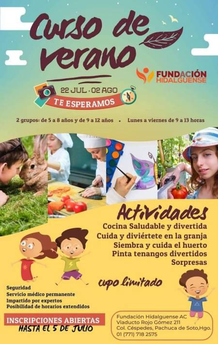 Invita Fundación Hidalguense a curso de verano