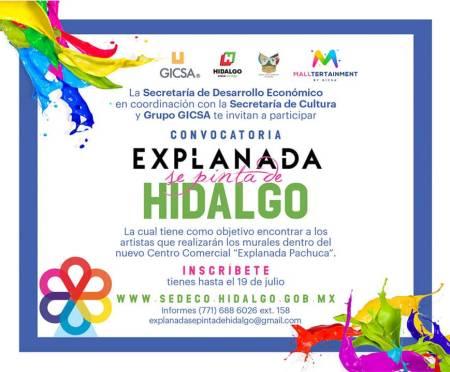 """Invitan Sedeco, Cultura y Gicsa a que artistas locales participen en el proyecto """"Explanada se pinta de Hidalgo"""".jpg"""