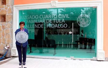 Nuevos juzgados operan en Apan, Tulancingo, Actopan y Tula1