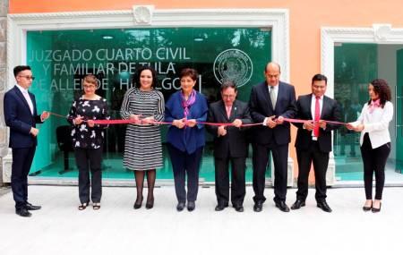Nuevos juzgados operan en Apan, Tulancingo, Actopan y Tula2