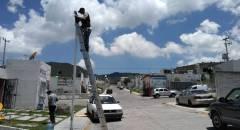 Realizan mantenimiento mejoramiento del alumbrado público en Tolcayuca2