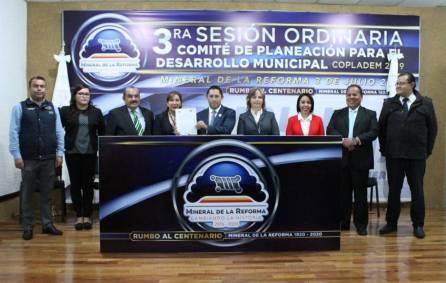 Realizan Tercera Sesión Ordinaria del COPLADEM en Mineral de la Reforma1