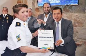 Reconocen a agentes de la Policía Industrial Bancaria de Hidalgo por desempeño ejemplar1
