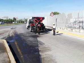 SOPOT realiza trabajos de bacheo en Zona Metropolitana de Pachuca1