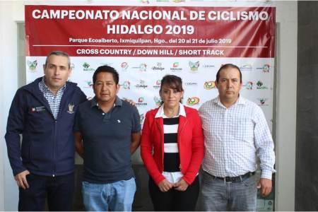 """Todo listo para el Campeonato Nacional de Ciclismo Hidalgo 2019, en el Parque Ecoturístico """"EcoAlberto"""".jpg"""