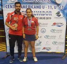 Ximena Figueroa obtiene medallas en el Campeonato Centroamericano de Tenis de mesa1