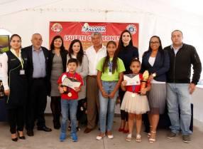 Campeones de certamen internacional de cálculo mental son reconocidos por el alcalde de Tizayuca