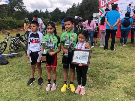 Ciclistas hidalguenses dominan la final de la Sexta Copa Nacional MTB1