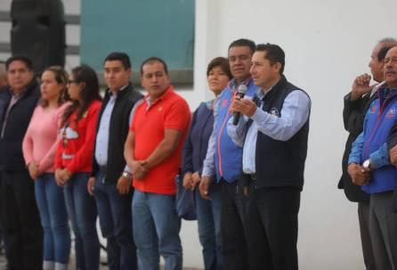 Entrega alcalde Raul Camacho Baños, pavimentación de concreto y dren pluvial en Carboneras 2