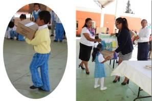 Entregan paquetes escolares al CAIC Tolcayuca