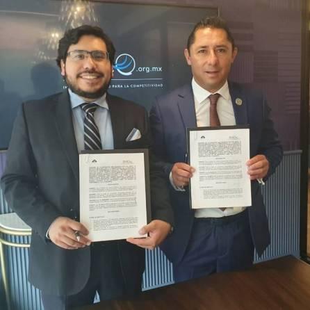 Firma alcalde Raúl Camacho Baños, convenio de colaboración con IMCO1