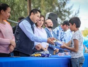 Inaugura Raúl Camacho Baños Salón de Usos Múltiples en San Cristóbal Chacón1