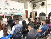 """Incorporan becarios del Programa Federal """"Jóvenes Construyendo el Futuro"""" a actividades del municipio de Tolcayuca4"""