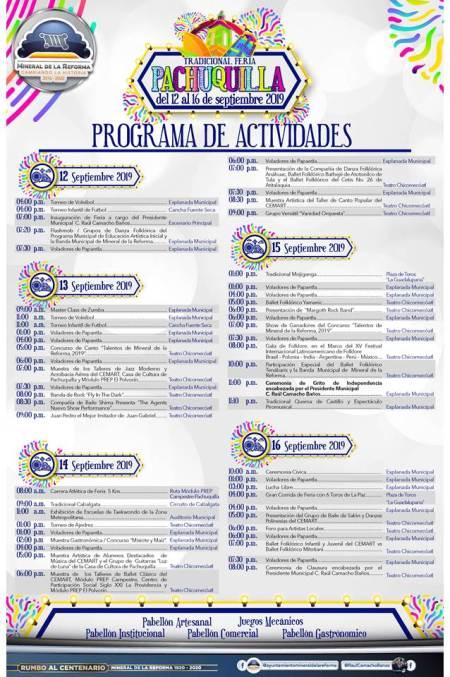 Presentan programa de actividades de La Tradicional Feria Pachuquilla 2019-4
