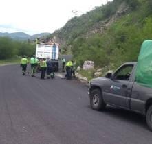 SOPOT realiza trabajos de bacheo en la región de Atotonilco El Grande2